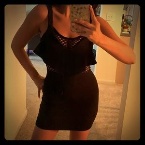 Black with mesh club dress!
